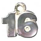 "8 mm 5/16"" Double Number (No Bar) Charm - Sterling Silver Jewelry"