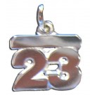 "5MM 1/4"" Double Number Charm - Sterling Silver Jewelry"