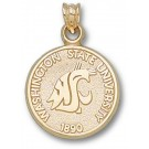 "Washington State Cougars ""Seal"" Pendant - 14KT Gold Jewelry"
