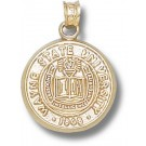 """Wayne State Warriors """"Seal"""" Pendant - Gold Plated Jewelry"""