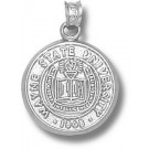 """Wayne State Warriors """"Seal"""" Pendant - Sterling Silver Jewelry"""