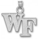 """Wake Forest Demon Deacons """"WF"""" Pendant - Sterling Silver Jewelry"""