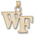 """Wake Forest Demon Deacons """"WF"""" Pendant - 14KT Gold Jewelry"""