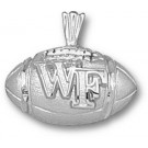 "Wake Forest Demon Deacons ""WF Football"" Pendant - Sterling Silver Jewelry"