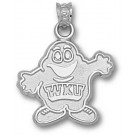"Western Kentucky Hilltoppers 5/8"" ""Big Red"" Pendant - Sterling Silver Jewelry"