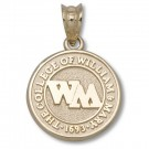 "William & Mary Tribe 1/2"" Seal Pendant - Gold Plated Jewelry"