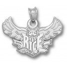 "Rice Owls ""Rice Flying Owl"" Pendant - Sterling Silver Jewelry"