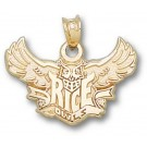 "Rice Owls ""Rice Flying Owl"" Pendant - 14KT Gold Jewelry"