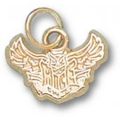 "Rice Owls New ""Rice Flying Owl"" 3/8"" Charm - 14KT Gold Jewelry"
