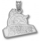 "Wright State Raiders ""Raiders with Wolf"" Pendant - Sterling Silver Jewelry"