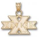 "Xavier Musketeers ""Xavier in X"" Pendant - 14KT Gold Jewelry"