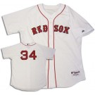 David Ortiz Boston Red Sox #34 Authentic Majestic MLB Baseball Jersey (Home) by
