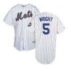 David Wright New York Mets #5 Authentic Majestic Athletic Cool Base MLB Baseball Jersey (Home Pinstripe Size 56)
