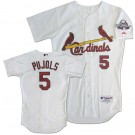 Albert Pujols St. Louis Cardinals Authentic Home Jersey, With #5 from Majestic Athletic (White 40 Small)