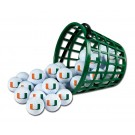 Miami Hurricanes Golf Ball Bucket (36 Balls)