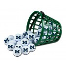 Michigan Wolverines Golf Ball Bucket (36 Balls)