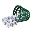 Texas A & M Aggies Golf Ball Bucket (36 Balls)
