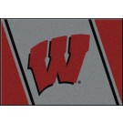 """Wisconsin Badgers """"W"""" 7' 8"""" x 10' 9"""" Team Spirit Area Rug by"""