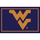 "West Virginia Mountaineers 7' 8"" x 10' 9"" Team Spirit Area Rug by"