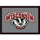 "Wisconsin Badgers ""Mascot"" 2'8""x 3'10"" Team Spirit Area Rug"
