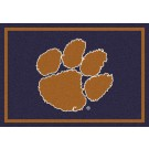 "Clemson Tigers ""Horizontal"" 2'8""x 3'10"" Team Spirit Area Rug"