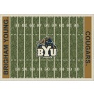 "Brigham Young (BYU) Cougars 7' 8"" x 10' 9"" NCAA Home Field Area Rug by"