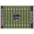 """Kansas State Wildcats 7' 8"""" x 10' 9"""" NCAA Home Field Area Rug by"""
