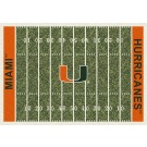 "Miami Hurricanes 7' 8"" x 10' 9"" NCAA Home Field Area Rug by"
