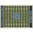"""North Carolina Tar Heels 7' 8"""" x 10' 9"""" NCAA Home Field Area Rug by"""