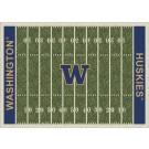 """Washington Huskies 7' 8"""" x 10' 9"""" NCAA Home Field Area Rug by"""