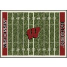 """Wisconsin Badgers 7' 8"""" x 10' 9"""" NCAA Home Field Area Rug by"""