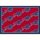 "Buffalo Bills 3' 10"" x 5' 4"" Team Repeat Area Rug (Red)"