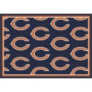 """Chicago Bears 7' 8"""" x 10' 9"""" Team Repeat Area Rug (Navy Blue) by"""