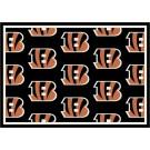 "Cincinnati Bengals 5' 4"" x 7' 8"" Team Repeat Area Rug (Black)"