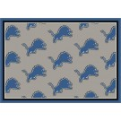 """Detroit Lions 7' 8"""" x 10' 9"""" Team Repeat Area Rug (Gray) by"""