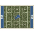 """Detroit Lions 7' 8"""" x 10' 9"""" NFL Home Field Area Rug by"""