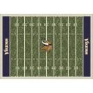 "Minnesota Vikings 7' 8"" x 10' 9"" NFL Home Field Area Rug by"