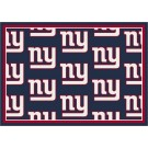 """New York Giants 7' 8"""" x 10' 9"""" Team Repeat Area Rug (Navy Blue) by"""