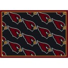 "Arizona Cardinals 5' 4"" x 7' 8"" Team Repeat Area Rug (Black)"