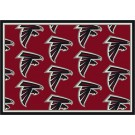"Atlanta Falcons 7' 8"" x 10' 9"" Team Repeat Area Rug (Red) by"