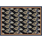 "Baltimore Ravens 7' 8"" x 10' 9"" Team Repeat Area Rug (Black) by"
