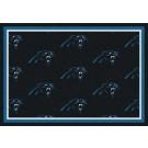 "Carolina Panthers 5' 4"" x 7' 8"" Team Repeat Area Rug (Blue)"