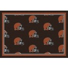 "Cleveland Browns 7' 8"" x 10' 9"" Team Repeat Area Rug (Brown) by"