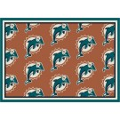 "Miami Dolphins 7' 8"" x 10' 9"" Team Repeat Area Rug (Orange) by"
