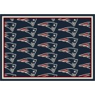 "New England Patriots 7' 8"" x 10' 9"" Team Repeat Area Rug (Navy Blue) by"