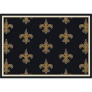 "New Orleans Saints 7' 8"" x 10' 9"" Team Repeat Area Rug (Black) by"