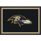 "Baltimore Ravens 7' 8"" x 10' 9"" Team Spirit Area Rug (Black) by"