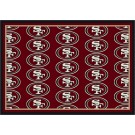 """San Francisco 49ers 7' 8"""" x 10' 9"""" Team Repeat Area Rug (Red) by"""