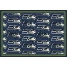 """Seattle Seahawks 5' 4"""" x 7' 8"""" Team Repeat Area Rug (Blue)"""