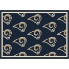 "St. Louis Rams 7' 8"" x 10' 9"" Team Repeat Area Rug (Navy Blue) by"